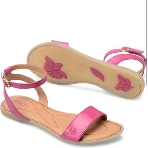 Born Pink Leather Sandals